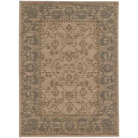 "Tommy Bahama Vintage Traditonal Wool Area Rug - 1'10"" x 3'3"""