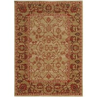 "Tommy Bahama Vintage Beige/Red Wool Area Rug (1'10 x 3'3) - 1'10"" x 3'3"""