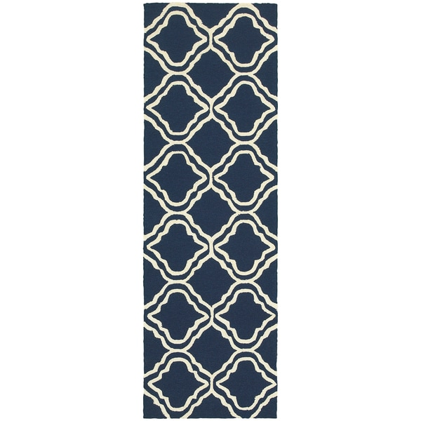 Tommy Bahama Atrium Blue/Ivory Area Rug - 2'6 x 8'