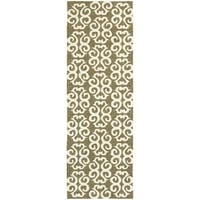Tommy Bahama Atrium Brown/Ivory Area Rug - 2'6 x 8'