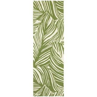 Tommy Bahama Atrium Green/Ivory Area Rug - 2'6 x 8'