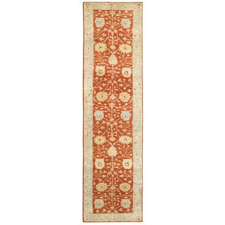 Tommy Bahama Palace Red/Grey Wool Area Rug (2'6 x 10')
