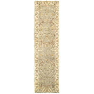 Tommy Bahama Palace Grey/Beige Wool Area Rug (2'6 x 10')