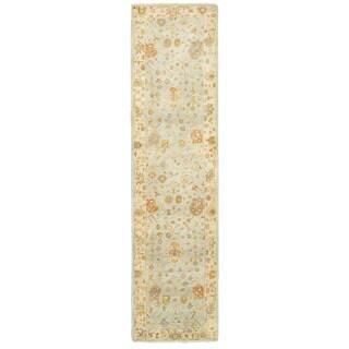 """Tommy Bahama Palace Blue/Sand Wool Area Rug (2'6 x 10') - 2'6"""" x 10'"""
