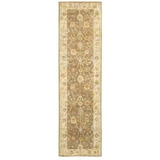Tommy Bahama Palace Brown/Beige Wool Oriental Runner Rug (2'6 x 10')