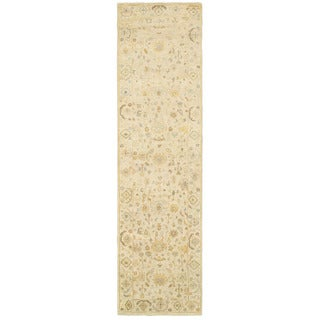 Tommy Bahama Palace Beige/Grey Wool Area Rug (2'6 x 10')