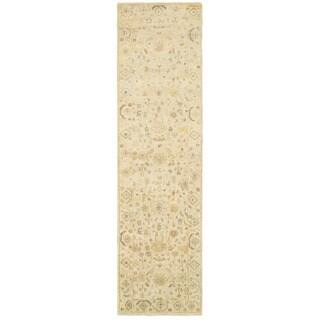 Tommy Bahama Palace Beige/Grey Wool Area Rug - 2'6 x 10'
