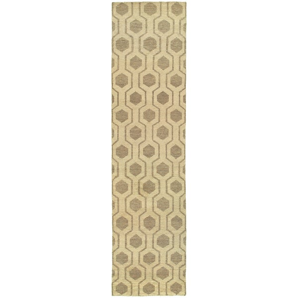 Tommy Bahama Maddox Beige/ Stone Wool Area Rug (2'6x10')