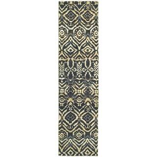 Tommy Bahama Ansley Black/Beige Jute Area Rug (2'6 x 10')