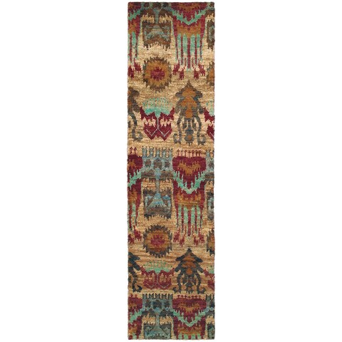 Tommy Bahama Ansley Multicolored Jute Runner Rug - 2'6 x 10'