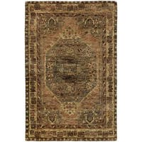 "Tommy Bahama Ansley Grey/Brown Jute Area Rug (2'6 x 10') - 2'6"" x 10'"