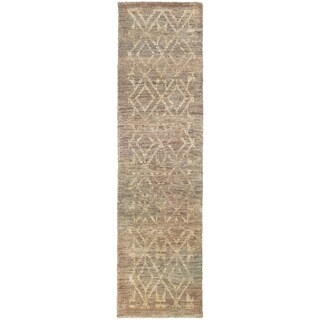 Tommy Bahama Ansley Taupe/Beige Jute Area Rug (2'6 x 10'0)