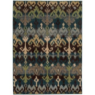 Tommy Bahama Vintage Blue/ Multi Wool Area Rug (1'10x3'3)