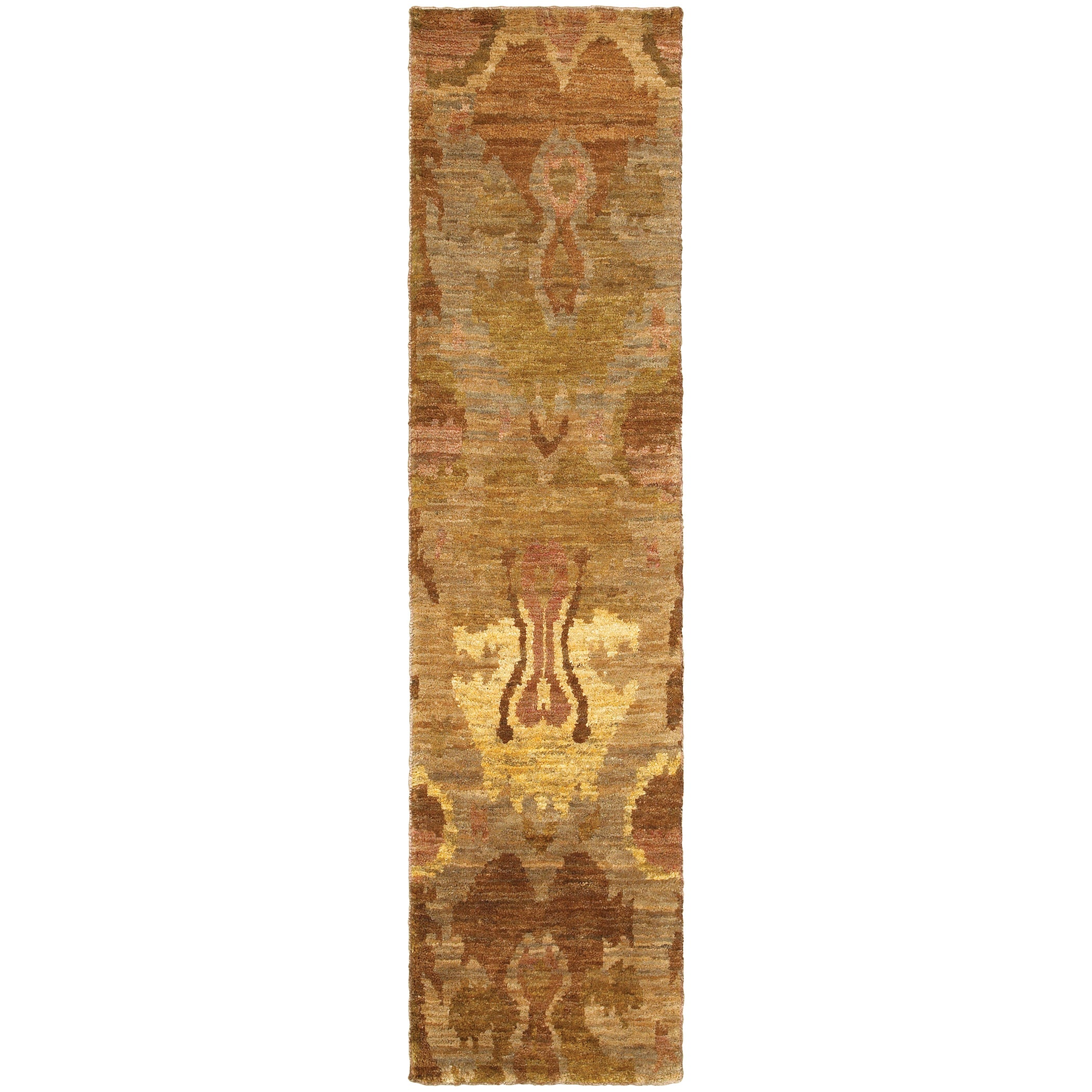 Tommy Bahama Ansley Beige/Orange Jute Area Rug (2'6 x 10'...