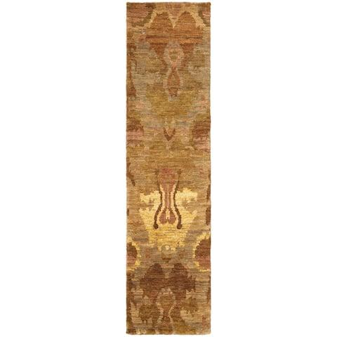 Tommy Bahama Ansley Faded Abstract Handmade Jute Area Rug