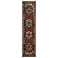 eCarpetGallery Hand-knotted Serapi Heritage Orange Wool Rug - 2'6 x 10'2