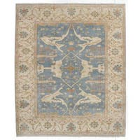 eCarpetGallery Royal Ushak Blue Wool Hand-knotted Rug - 8'2 x 9'9