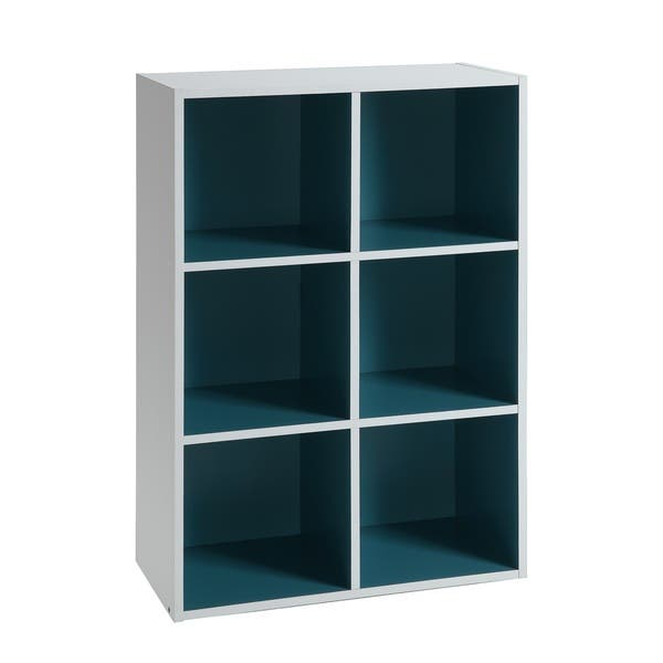 Shop Two-Toned 6 Cube Organizer (with back panels)- White