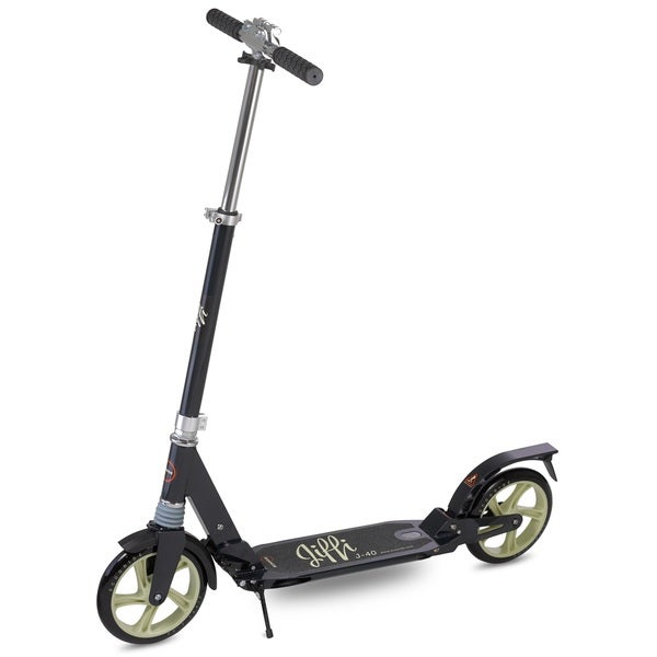 Scooride Jiffi J-40 Premium Folding Adult Kick Scooter- Black