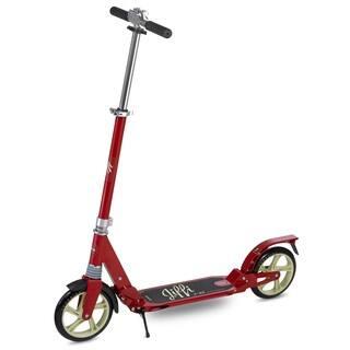 Scooride Jiffi J-40 Premium Folding Adult Kick Scooter - Red|https://ak1.ostkcdn.com/images/products/16747218/P23058238.jpg?impolicy=medium