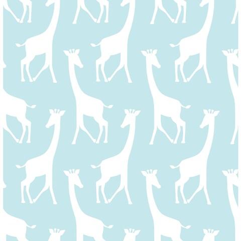 Turquoise Savannah Soiree Peel & Stick Wallpaper