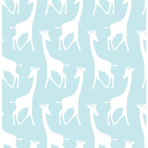 Turquoise Savannah Soiree Peel & Stick Wallpaper
