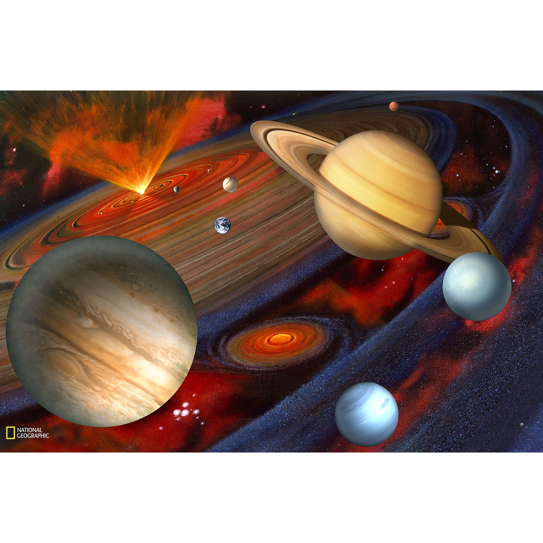 Brewster Planets Wall Mural, Multi