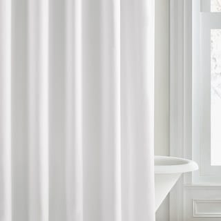 Vera Wang White Pique Shower Curtain