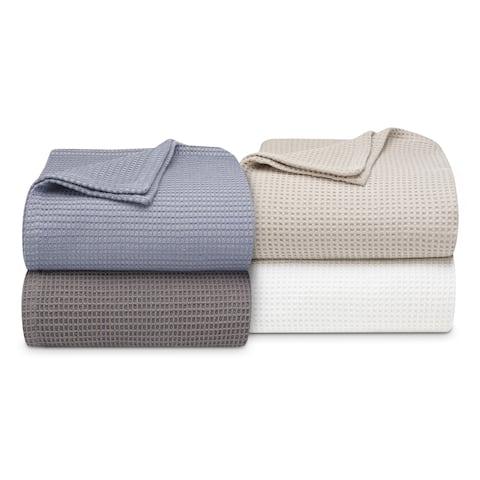 Vera Wang Waffleweave Cotton Blanket