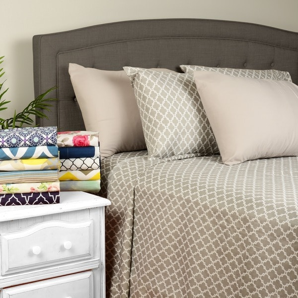 Journee Home 'Zoe' Wrinkle Free Printed 6-piece Sheet Set