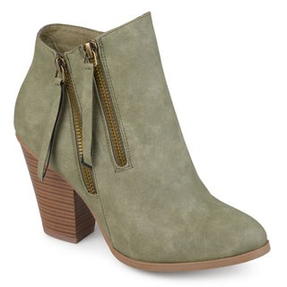 Link to Journee Collection Women's 'Vally' Double Zipper Stacked Wood Heel Booties Similar Items in Women's Shoes