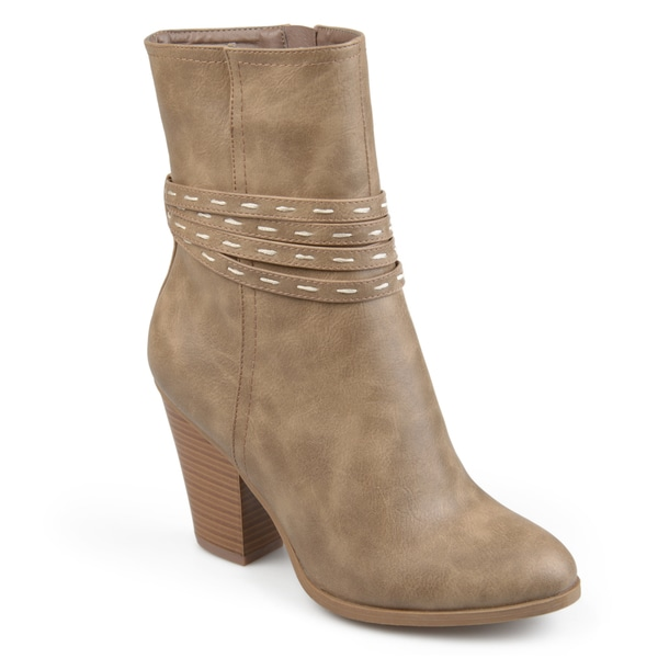 Journee Collection Women's 'Larkyn' Stacked Heel Strappy Booties