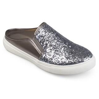Journee Collection Women's 'Flori' Glitter Slide Sneakers