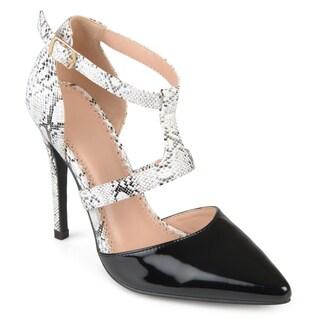 Journee Collection Women's 'Brigid' T-strap Pointed Toe Heels