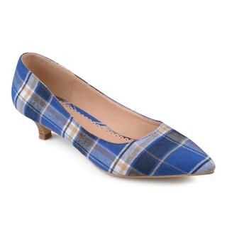 Journee Collection Women's 'Bohme' Pointed Toe Kitten Heels