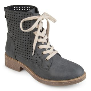 Journee Collection Women's 'Essex' Lace-up Laser-cut Boots|https://ak1.ostkcdn.com/images/products/16747791/P23058730.jpg?impolicy=medium