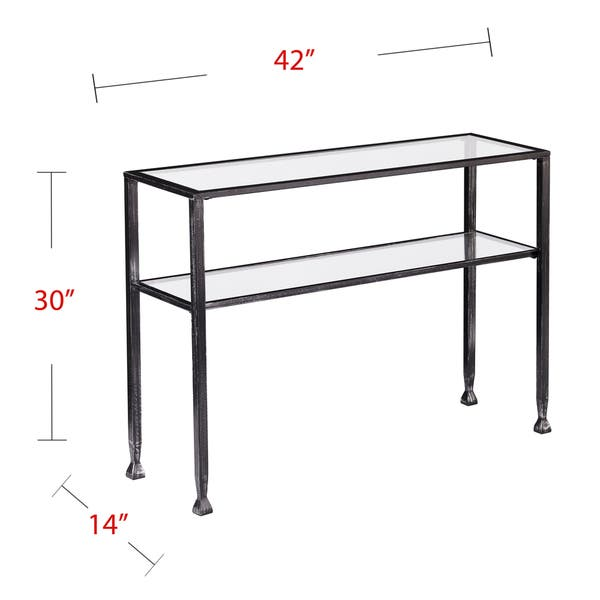 Astonishing Shop Harper Blvd Clairmont Metal Glass Outdoor Console Table Ocoug Best Dining Table And Chair Ideas Images Ocougorg