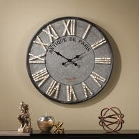 The Gray Barn Jartop Round Rustic Farmhouse Wall Clock