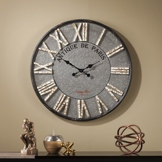 Harper Blvd Kentsdale Round Rustic Farmhouse Wall Clock