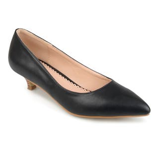 Journee Collection Women's 'Bohme' Pointed Toe Kitten Heels|https://ak1.ostkcdn.com/images/products/16747869/P23058824.jpg?impolicy=medium