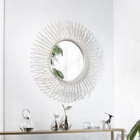 Clay Alder Home Liberty Round Oversized Sunburst Wall Mirror