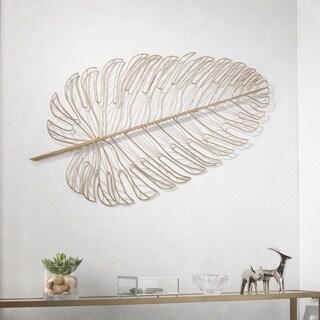 Harper Blvd Richney Metal Feather Wall Sculpture - Gold
