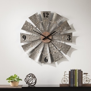 The Gray Barn Jartop Oversized Decorative Windmill Clock