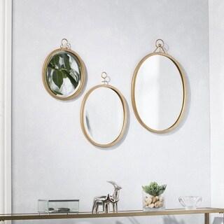 Silver Orchid Grant Decorative Mirror 3 pc Set - Gold