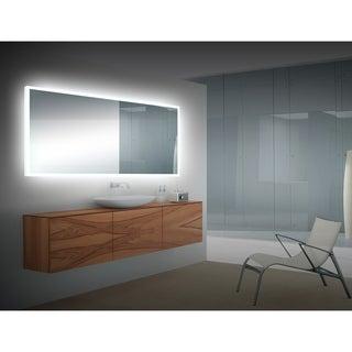 Bahama Silvertone Acrylic LED Mirror