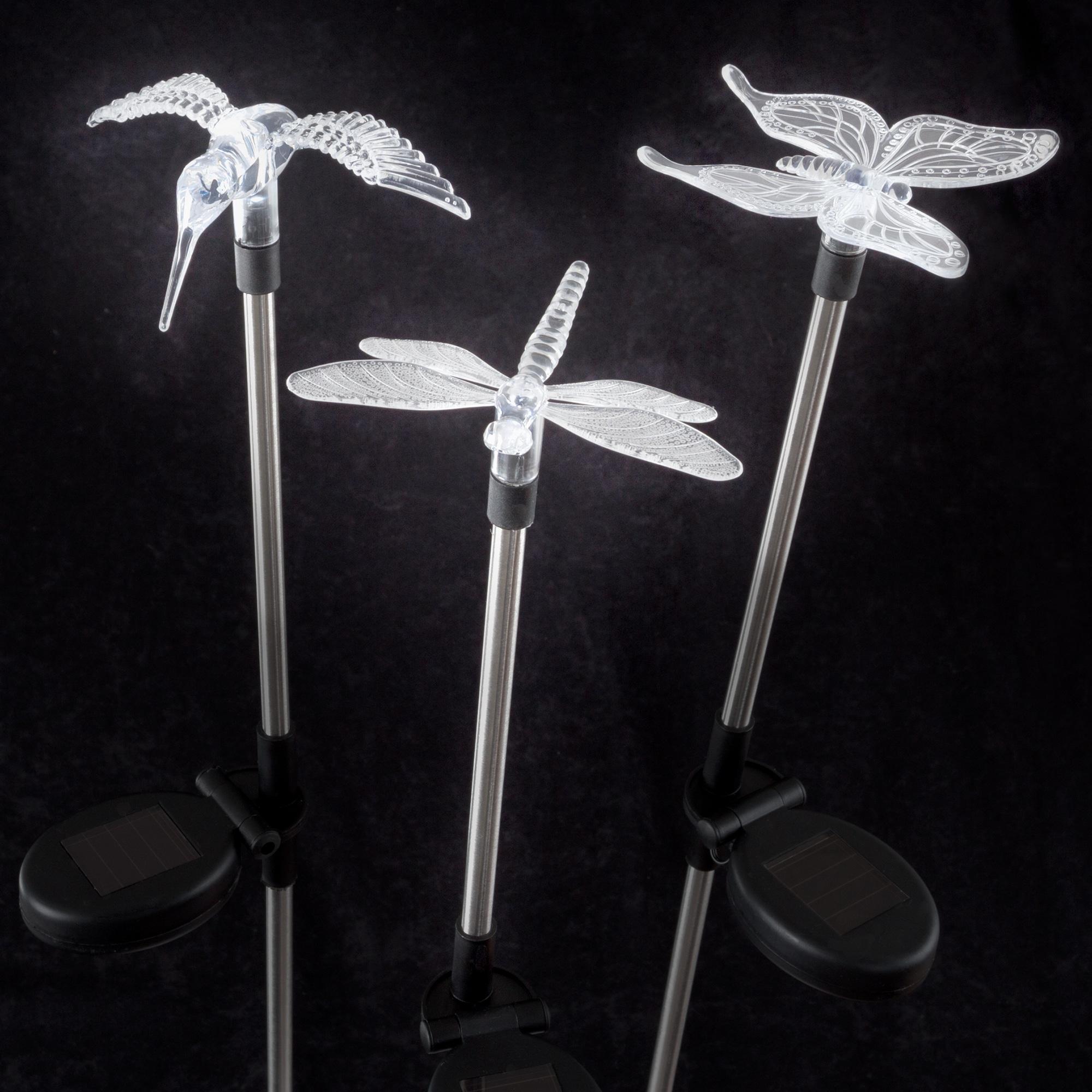 Yard Décor, Solar Outdoor LED Stake Butterfly, Hummingbir...