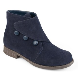 Journee Collection Kid's 'Rylan' Vintage Button Faux Suede Boots (More options available)