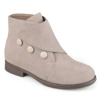 Journee Collection Kid's 'Rylan' Vintage Button Faux Suede Boots