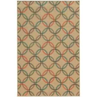 Style Haven Interlocking Circles Indoor/Outdoor Area Rug (7'10 x 10'10)