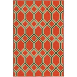 Geometric Lattice Indoor/Outdoor Area Rug (7'10 x 10'10)